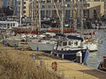 Boats in the harbourside of bristol colourful uk Royalty Free Stock Photos