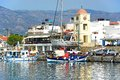 Boats in Ierapetra harbour, Crete. Royalty Free Stock Photo