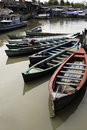 Boats in Jakarta slum Stock Photography