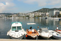 Boats from the kavala greece Stock Image