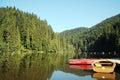 Boats on a lake Royalty Free Stock Photo