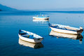 Boats on Lake Ohrid Royalty Free Stock Photo
