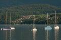 Boats on Lake Thun Royalty Free Stock Images