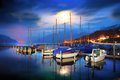 Boats on Lake Thun. Stock Photos