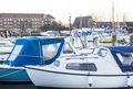 Boats lying in the harbour awaiting summer to come Royalty Free Stock Photography