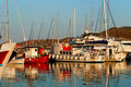 Boats in marina Royalty Free Stock Photo
