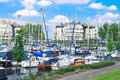 Boats at the marina Huizen. Stock Photography