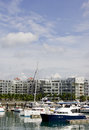 Boats at marina keppel singapore Stock Image