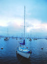 Boats at the marina in san diego cool waters of pacific ocean pier Royalty Free Stock Image