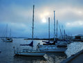 Boats at the marina in san diego cool waters of pacific ocean pier Royalty Free Stock Photos