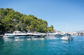 Boats in the marina in santa ponsa nautic club mallorca balearic islands spain september on a sunny summer day on Royalty Free Stock Photos