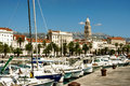 Boats in marina in Split, Croatia Royalty Free Stock Photo