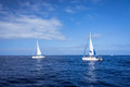 Boats in mediterranean sea Royalty Free Stock Photo