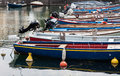 Boats moored in the dock of Lake Garda Royalty Free Stock Photo