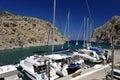 Boats moored on Kalymnos island Royalty Free Stock Photo