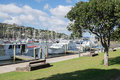 Boats moored at Whangarei Marina Royalty Free Stock Photo