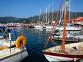 Boats in Nidri harbour, Lefkada, Greece Royalty Free Stock Photo