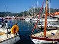 Boats in Nidri Harbour, Lefkada, Greece Royalty Free Stock Photo