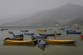 Boats on Phewa lake Royalty Free Stock Image