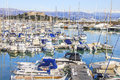 Boats in the port of antibes cote d azur Stock Images