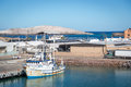 Boats resting in a sunny day in Baja California, Mexico Royalty Free Stock Photo