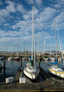 Boats in San Francisco Marina Stock Image