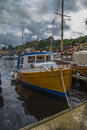 Boats on show at the harbor of halden image are during food and festival which is held every year last weekend june Royalty Free Stock Images