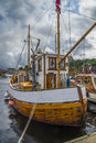 Boats on show at the harbor of halden image are during food and festival which is held every year last weekend june Royalty Free Stock Photos