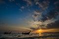 Boats at sunset tailand krabi province Stock Image