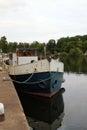 Boats on the trent docked at gunthorpe nottinghamshire Royalty Free Stock Photos