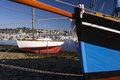 Boats waiting for sailing in camaret sur mer finistere brittany france Stock Image