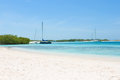Boats and yachts at the beach of archipelago los roques venezuela Royalty Free Stock Image
