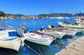 Boats and yachts, near Kekova island Royalty Free Stock Photos
