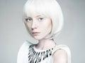 Bob hairstyle girl.future fashion Royalty Free Stock Photo