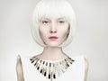 Bob hairstyle girl.future fashion woman Royalty Free Stock Photo