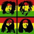Bob Marley portrait Royalty Free Stock Photo