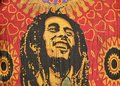Bob marley a simple carved cloth representing love for Stock Image