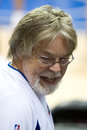 Bob seger attends an nba game at the palace of auburn hills Royalty Free Stock Photography