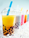 Boba Tea Cocktails Royalty Free Stock Photos