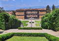 Boboli Gardens and Pitti Palace Royalty Free Stock Photo