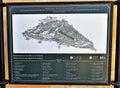 Boboli Gardens and Pitti Palace Map Royalty Free Stock Photo