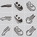 Bobsled icons icon set of Stock Photo