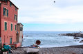 Boccadasse genoa historic buildings italy Royalty Free Stock Photos