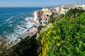 Boccadasse view of the village of in genoa in liguria Royalty Free Stock Photos