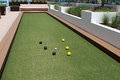 Bocce Ball court with artificial turf. Royalty Free Stock Photo