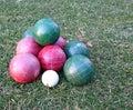 Bocce balls. Royalty Free Stock Photo