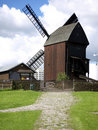 Bock windmill Marzahn and outbuilding Royalty Free Stock Photography