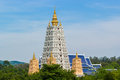 Bodh gaya in thailand scenery of white pagoda pattaya Stock Photos