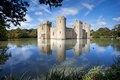Bodiam castle east sussex uk in is a perfect example of a late medieval moated its structure details and situation in an Stock Image