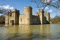 Bodiam castle sussex is a th century in east england Stock Images